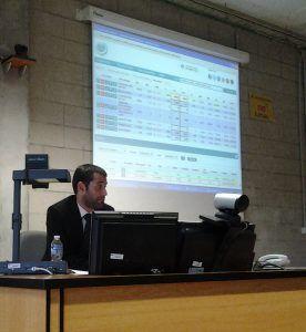 Presentación de Luis García Langa  sobre plataforma operativa GVC Gaesco en la UIB