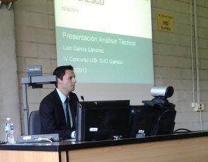 Luis García Sánchez en la presentación de Análisis Técnico para el IV Concurso UIB- GVC Gaesco