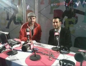 Raul Valls y Luis García Langa en Sa Persiana