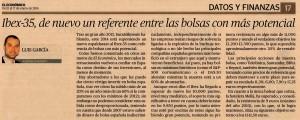 Publicado en El Económico 12/01/14