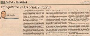 """Escaner artículo en """"El Económico"""""""