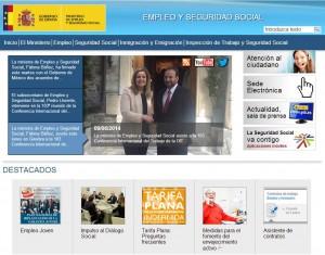 Web Ministerio de Trabajo